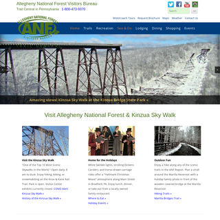 Allegheny National Forest - Kinzua - Pennsylvania - Trails - Camping - Attractions - (800) 473-9370
