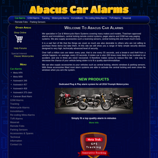 Welcome To Abacus Car Alarms