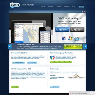 OCC Free Live Chat Software for Websites - Live Support - Live Help