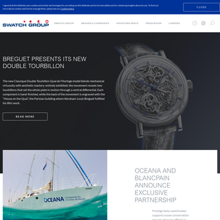 Swatch Group – Swiss made luxury watches and jewelry – Chronograph watch - Swatch Group