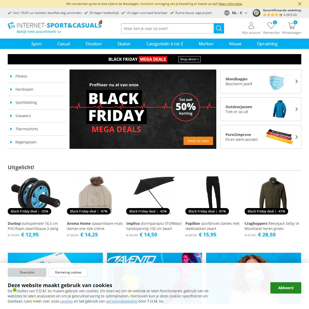 Sport, fashion & outdoor shop - Internet-Sport&Casuals