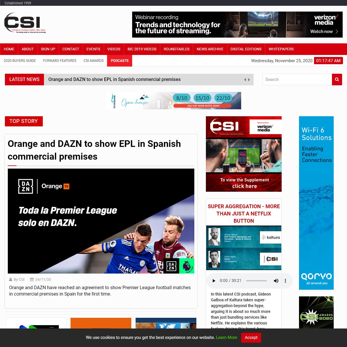 CSI Magazine - Home