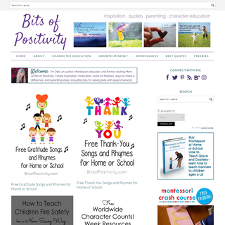 Bits of Positivity - Inspiration - Quotes - Parenting - Character Education