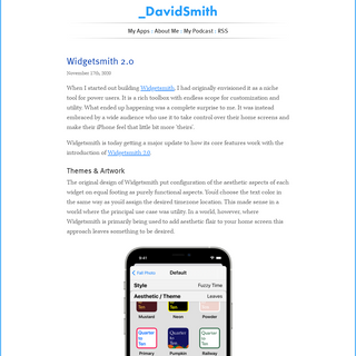 David Smith, Independent iOS Developer