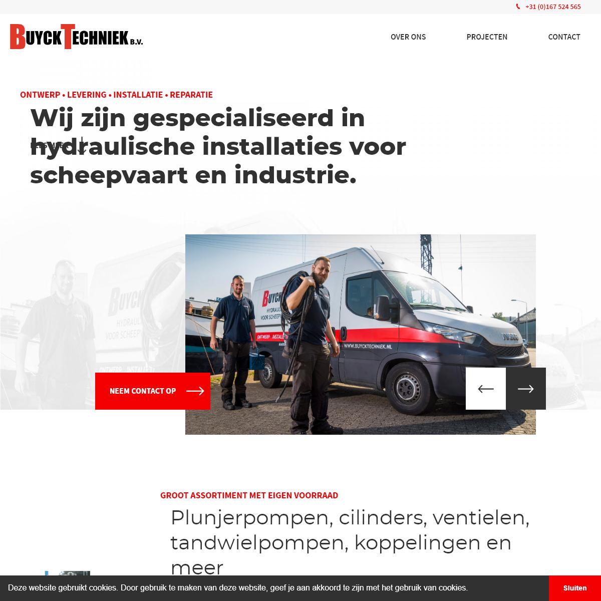 Gespecialiseerd in hydraulische installaties voor scheepvaart en industrie - Buyck Techniek