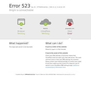 grupsapp.com - 523- Origin is unreachable