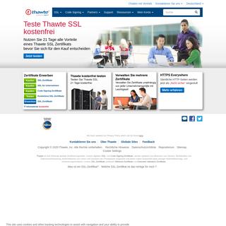 SSL-Zertifikate von einer führenden Zertifizierungsstelle kaufen - Thawte®
