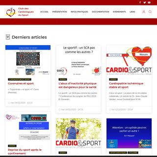 Accueil - Club des Cardiologues du Sport - Les spécialiste de la santé du cœur sportif