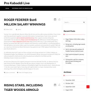 Pro Kabaddi Live
