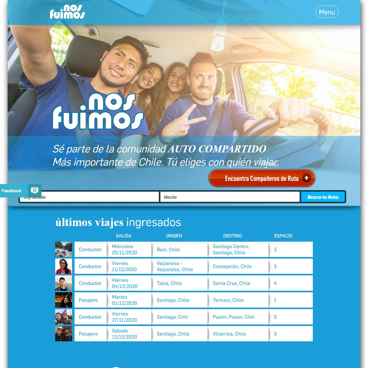 NosFuimos.cl - Auto Compartido de Chile