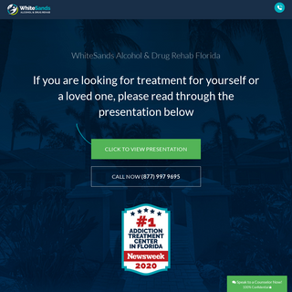 Florida Drug Rehab - WhiteSands Treatment Center - Call Today 877-640-7820