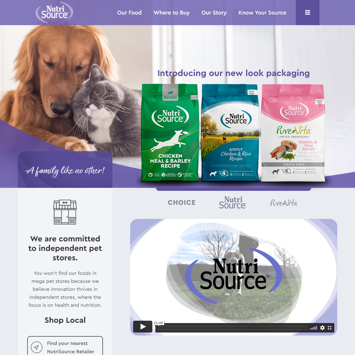 Healthy Dog Food & Cat Food - NutriSource Pet Foods