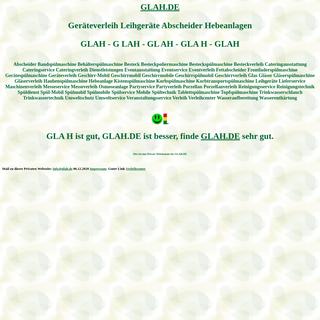 glah Geräteverleih Leihgeräte Abscheider Hebeanlagen Spülmobil Verleih Geschirrmobil Mieten