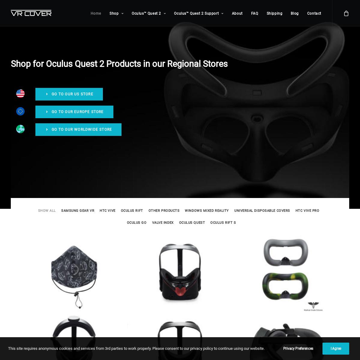 VR Hygiene Solutions for Oculus Quest, Rift S, Valve Index & HTC Vive