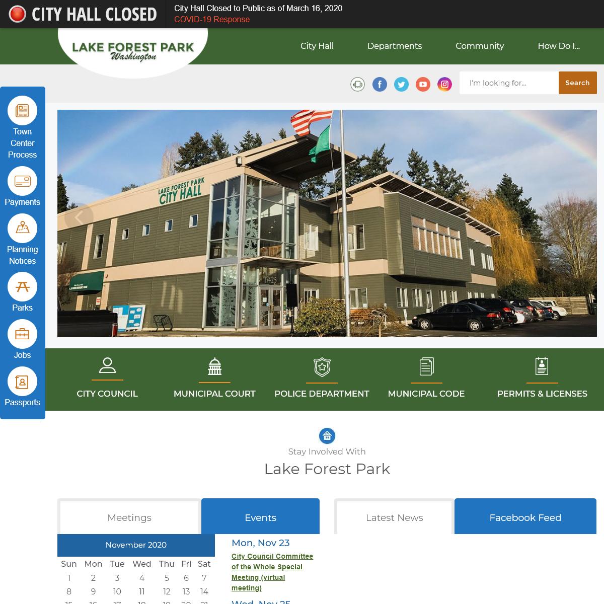 Lake Forest Park, WA - Official Website - Official Website