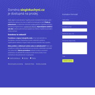 Doména singlvkuchyni.cz je dostupná na prodej.