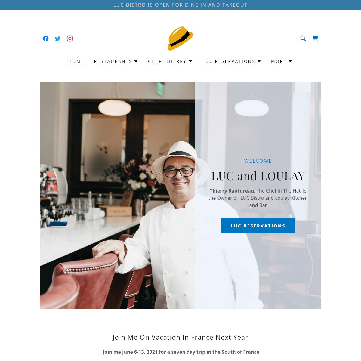 French Restaurant - Chef In The Hat