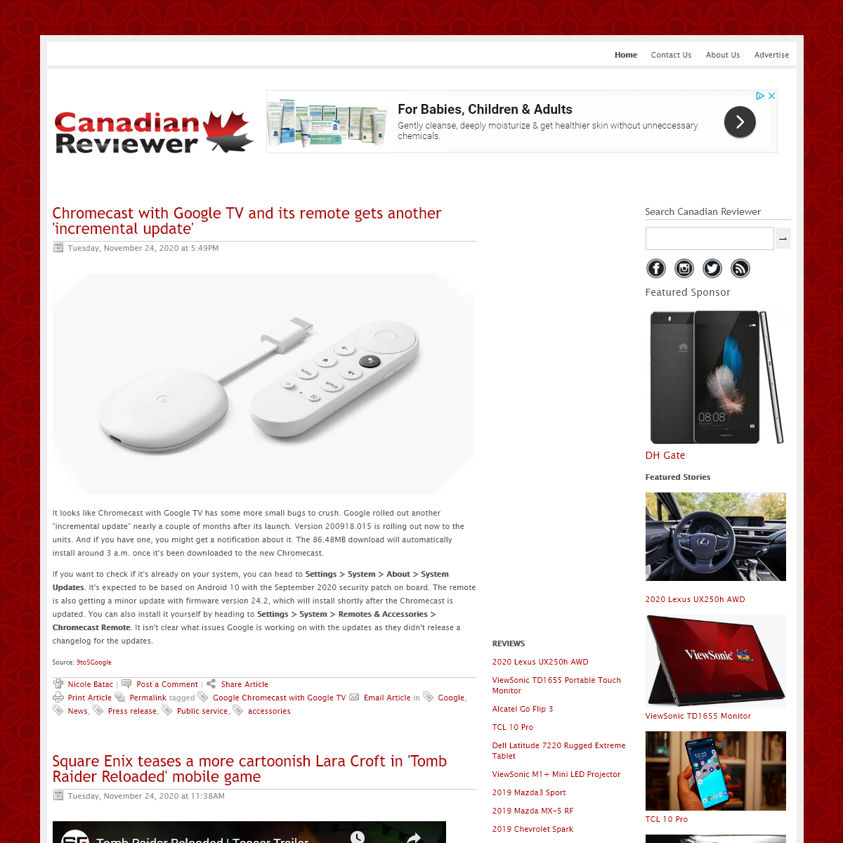 Canadian Reviewer - Reviews, News and Opinion with a Canadian Perspective