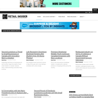 RETAIL INSIDER - Home Page - Retail Insider