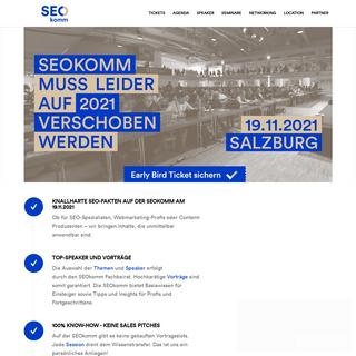 SEOkomm, die SEO Konferenz mit Herzblut ❤️ in Österreich