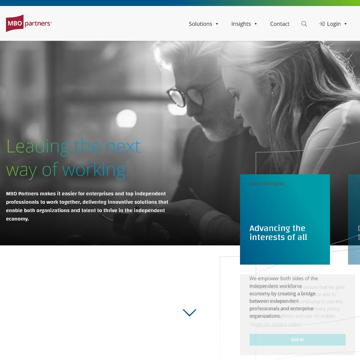 Workforce Solutions for Enterprises and Independent Professionals - MBO Partners