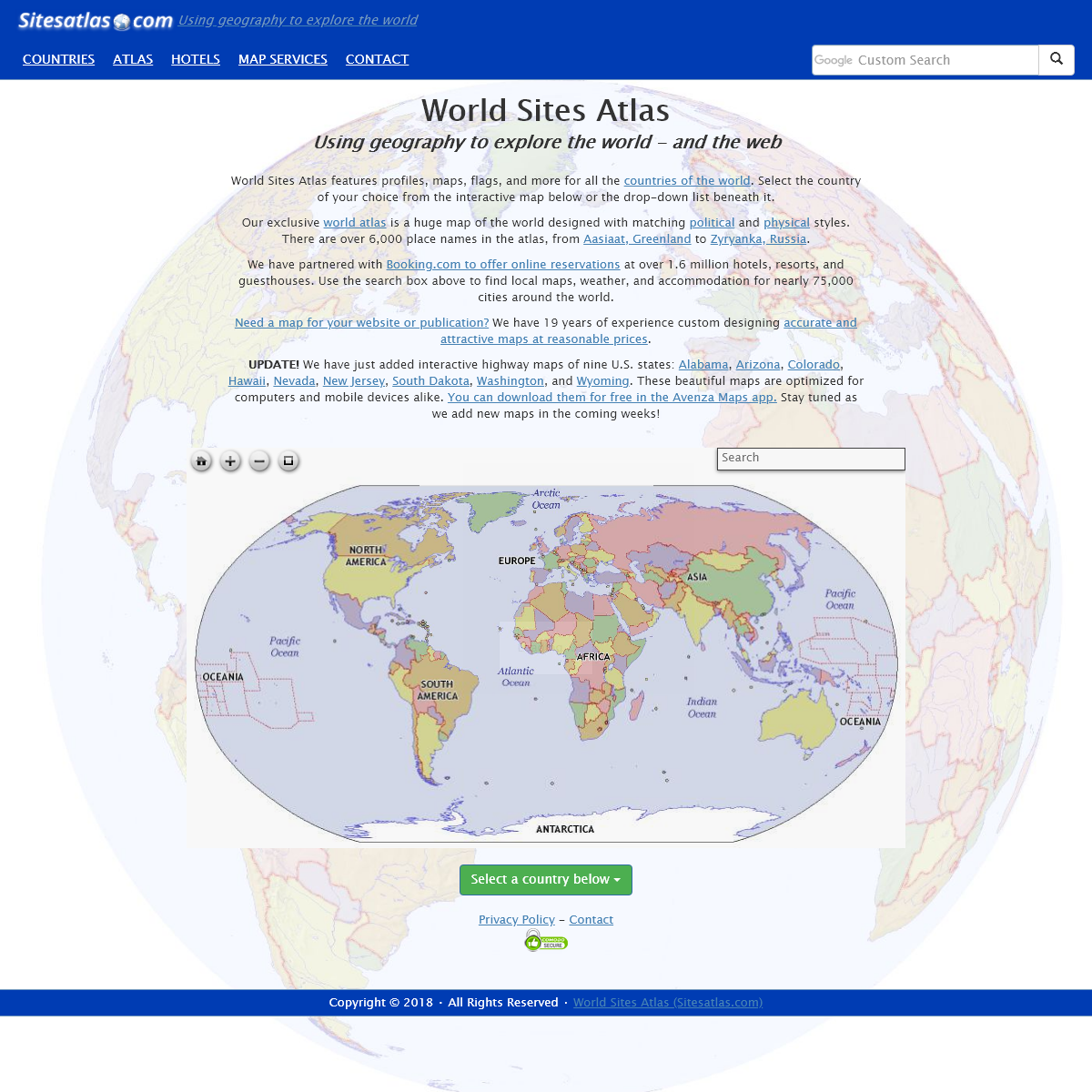 World Sites Atlas (Sitesatlas.com)- maps, hotels, information, and more.