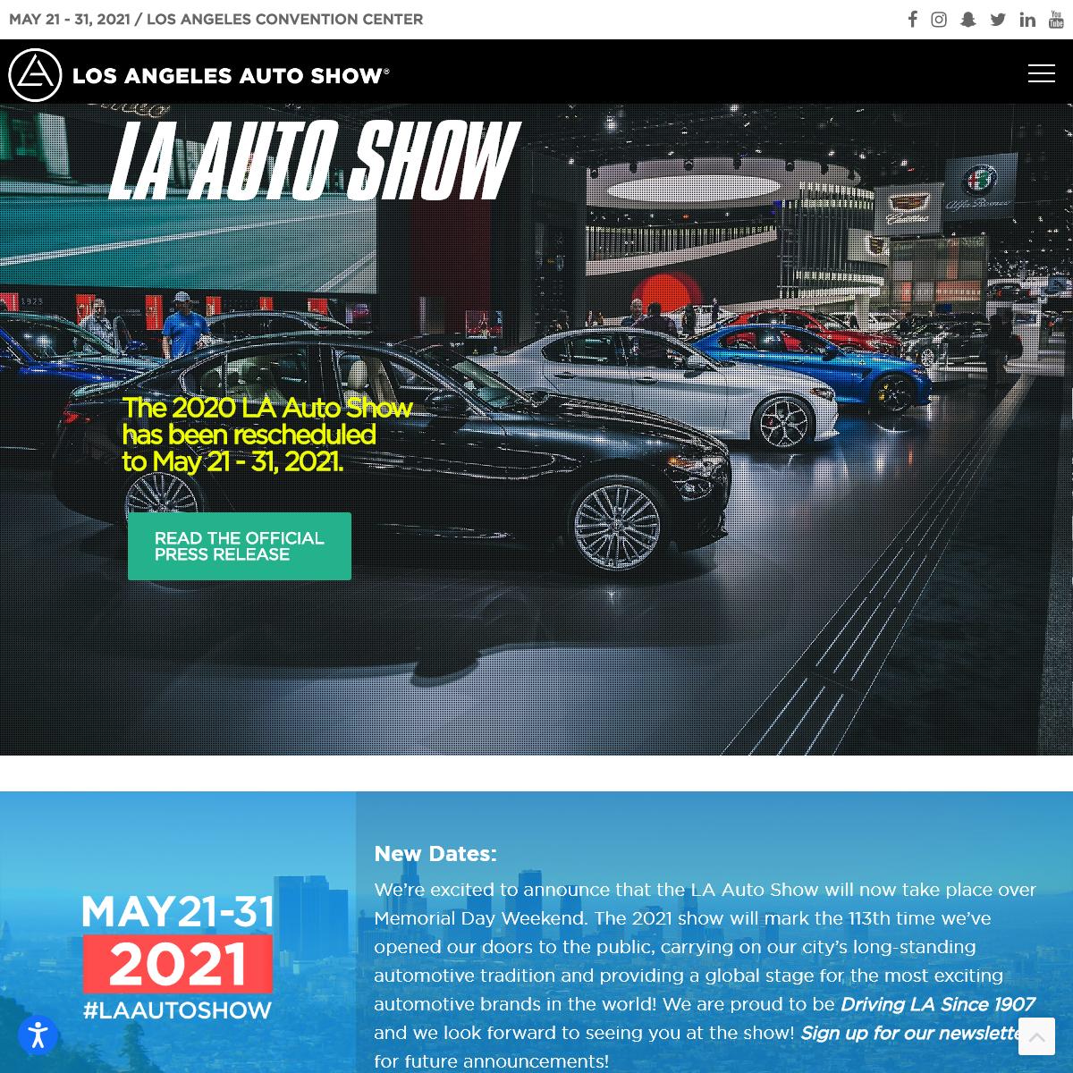 The LA Auto Show- May 21 - 31 at the LA Convention Center