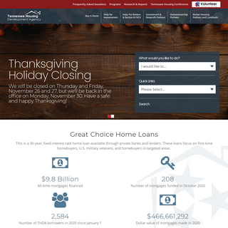 Tennessee Housing Development Agency - Homepage