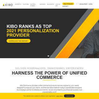 Kibo Commerce - Ecommerce - Order Management - 1-1 Personalization