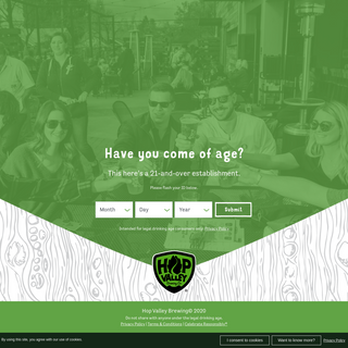 Are You Over 21- - Hop Valley Brewing