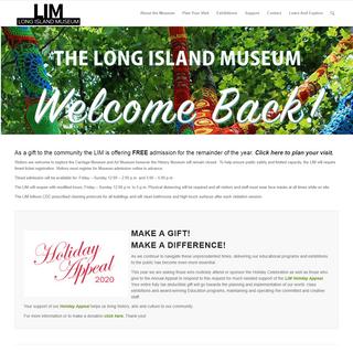 The Long Island Museum – o f A m e r i c a n A r t , H i s t o r y & C a r r i a g e s