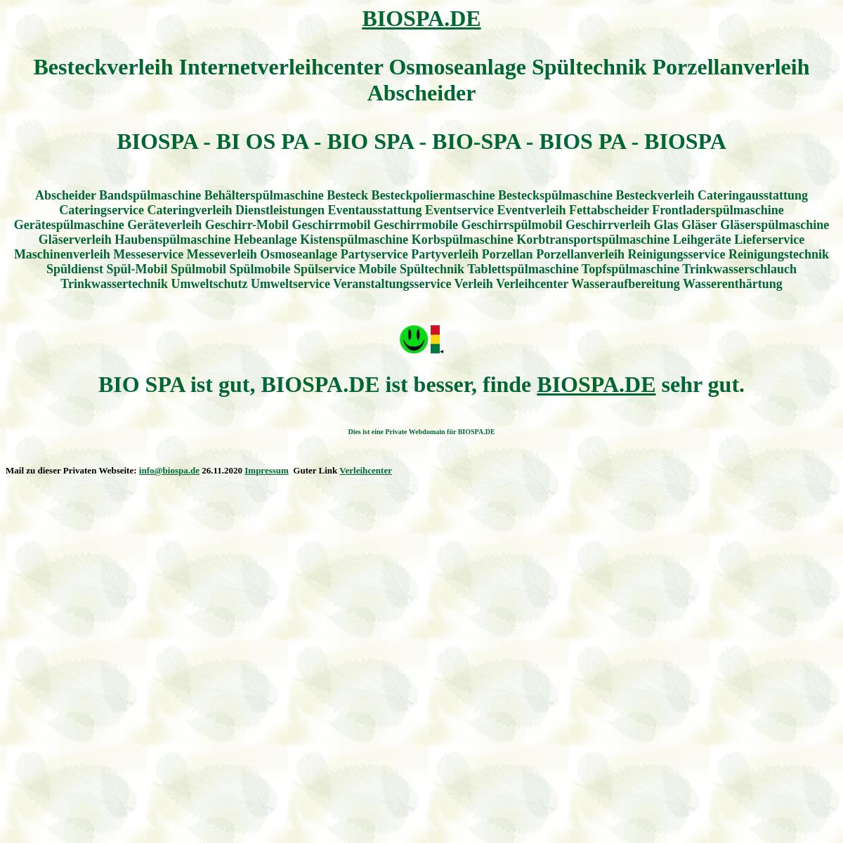 biospa Besteckverleih verleihcenter Osmoseanlage Spültechnik Porzellanverleih Abscheider Spülmobil Verleih Geschirrmobil Miete