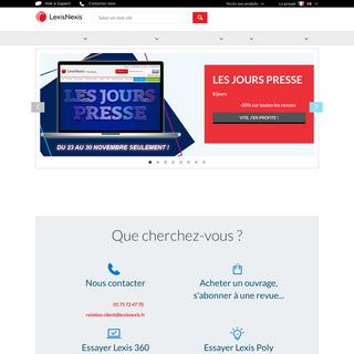 LexisNexis en France - LexisNexis - La technologie & les contenus au service des juristes - LexisNexis en France