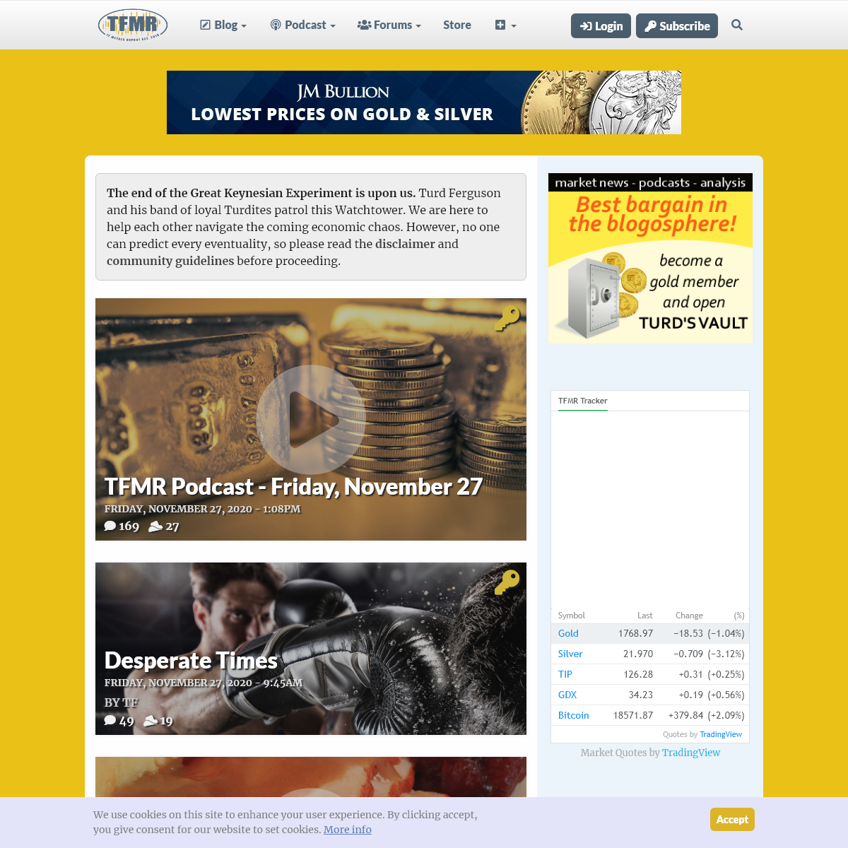 TF Metals Report - Gold, silver, currency and commodities coverage.