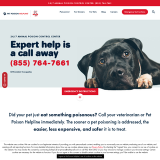 24-7 Animal Poison Control Center - Pet Poison Helpline