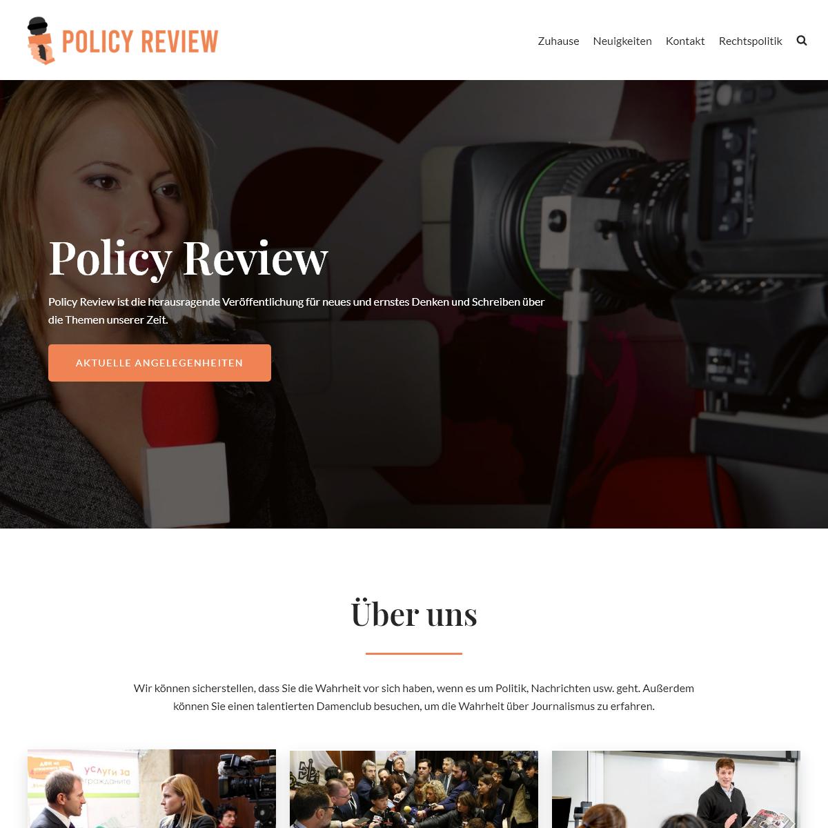 Policy Review - Für die Gesellschaft von Vorteil
