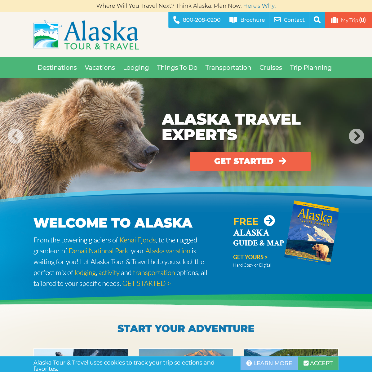 Alaska Tour & Travel - Vacations, Hotels, Tours, Cruises & Railroad Trips