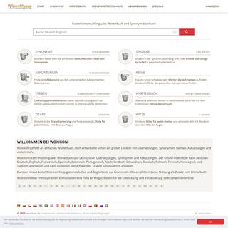 Woxikon.de - Multilinguales Wörterbuch, Synonyme, Sprüche & mehr