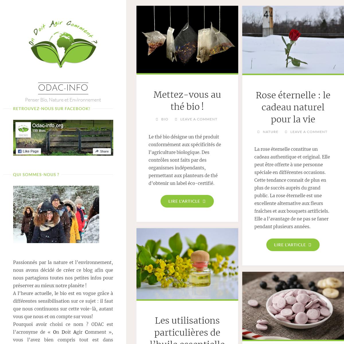 odac-info - Penser Bio, Nature et Environnement