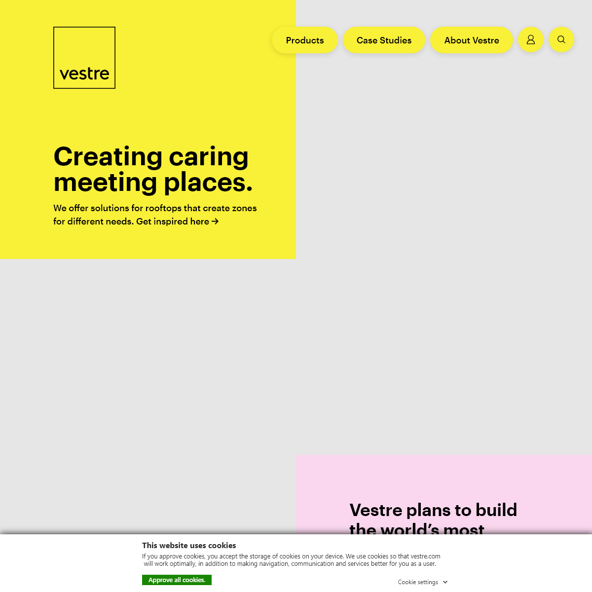Vestre - Creating caring meeting places.