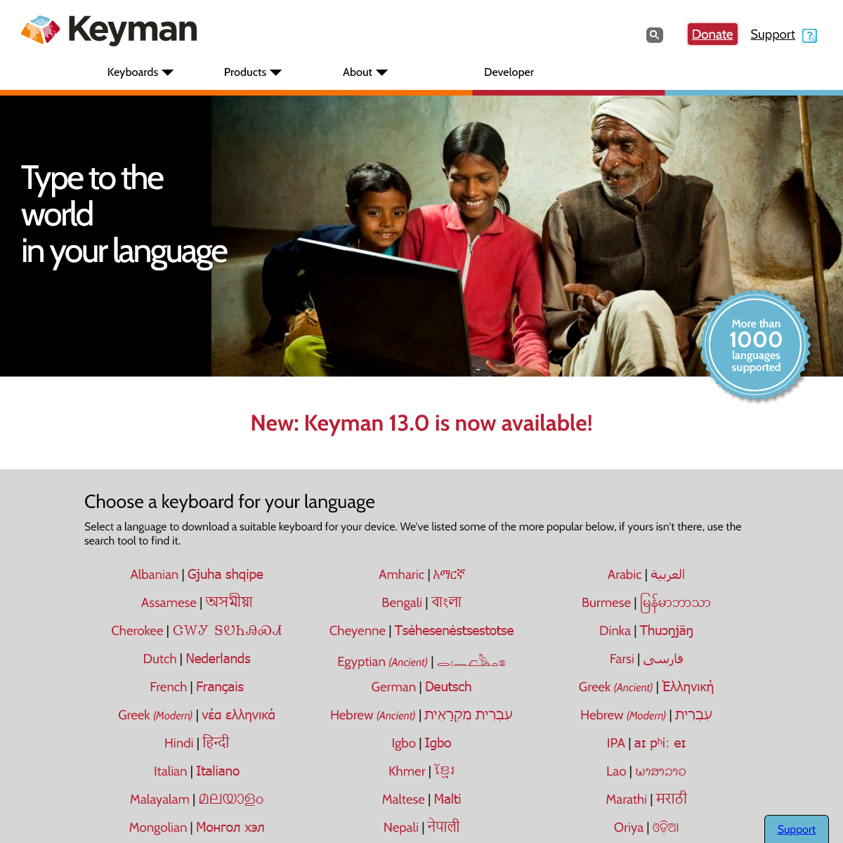 Keyman - Type to the world in your language