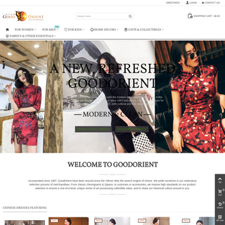 The largest Chinese Clothing, Products and Cheongsam silk shop since 1997 - GoodOrient