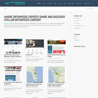 Where Orthopedic Experts Share and Discover Stellar Orthopedic Content - Orthopaedic Web Links