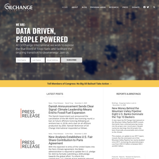 Oil Change International - Data Driven, People Powered.