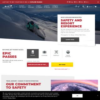 Official Ski Resort Website - Whistler, BC, Canada - Whistler Blackcomb