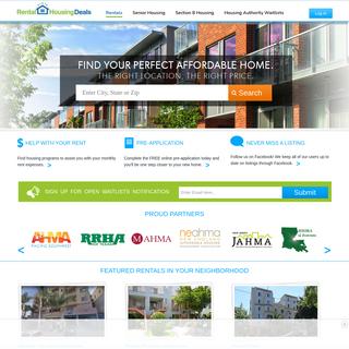 Affordable Housing, Rental Homes - RentalHousingDeals.com