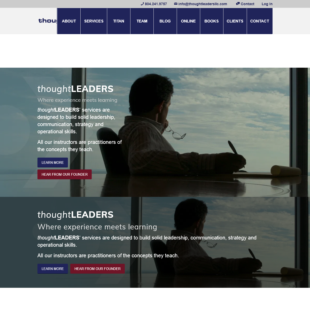 thoughtLEADERS, LLC- Leadership Training for the Real World – Leadership, Communications, Strategy, and Operations Training