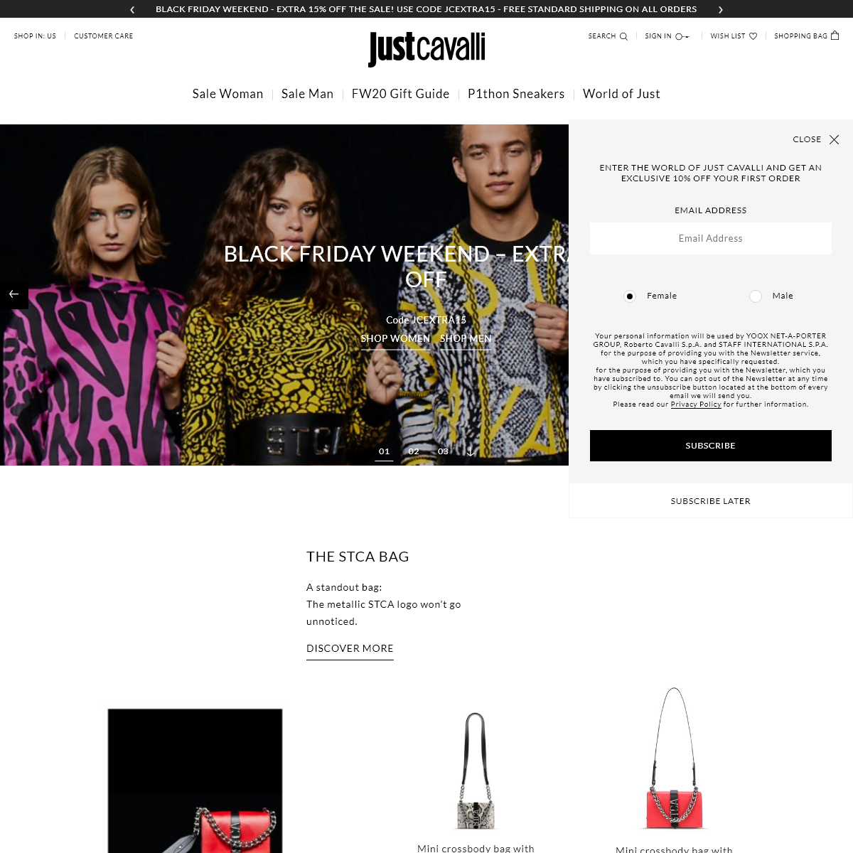 Just Cavalli Clothing & Accessories - Official Online Store