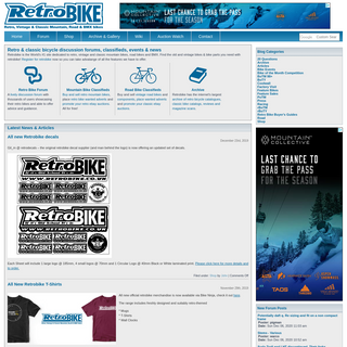 Retrobike - Retro, Vintage and Classic Mountain, Road and BMX bikes