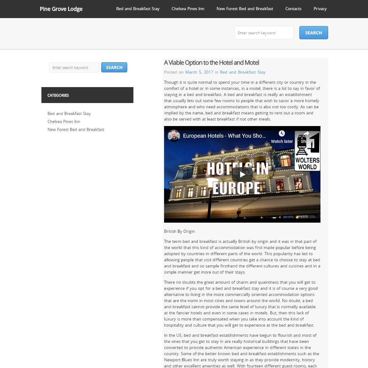 Pine Grove Lodge -